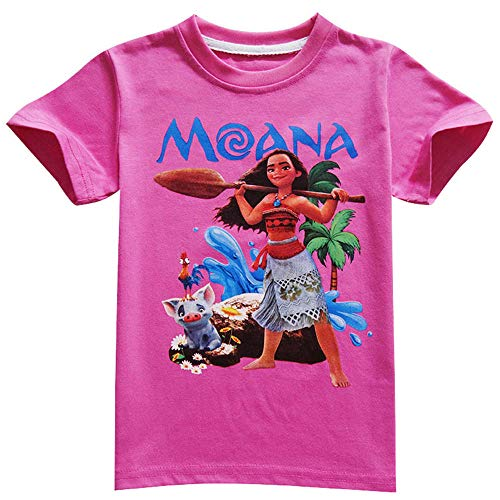 Moana T-Shirt Princess Cosplay Clothes for Children Costume Vaiana T Shirt Costumes for Kids Girls