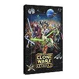 Póster de la serie de animación de Star Wars The Clone Wars temporada 4 de 40 x 60 cm, para decoración de sala de estar, dormitorio, 1 marco