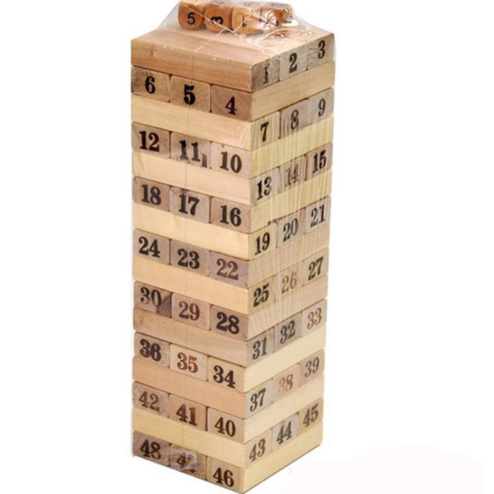 Zzzy Tumble Tower, Torre De Madera Jenga, Torre De Apilamiento, Juguetes para Niños, Juego De Mesa, Classic, para Niños Y Adultos, Regalo para Niños Y Niñas, Jenga Gigante: Amazon.es: Deportes y aire