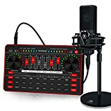 tenlamp Audio Mixer Kit, G3 Live Sound Card & Studio Recording Microphone, Audio Interface Voice Changer, USB DIGITAL Podcast Equipment Bundle for Streaming/Singing/Gaming on Phone or PC