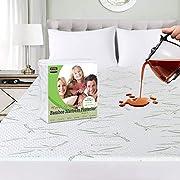 Utopia Bedding Premium 340 gsm 100% Impermeabile coprimaterasso in bambù, coprimaterasso, Traspirante, Stile Aderente Elastico tutt'intorno (140 x 200)