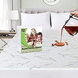 Ropa de Cama Utopía Premium 340 gsm 100% Impermeable Bambú Protector de colchón, Cubrecolchón, Transpirable, Estilo Ajustado Alrededor del elástico (180 x 200 x 30 cm)