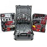 Werkzeugkoffer Werkbank komplett Gepäcktasche in Aluminium Trolley Kit Werkzeugtasche Werkzeug 15093