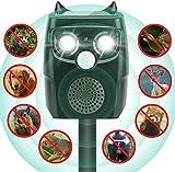 AimTop Solar Katzenschreck, Ultraschall Tiervertreiber Solar Tierabwehr Wasserdicht, 4 Modus Automatischer Ultraschall Abwehr mit Solar, Blitz, Akku fr Hunde, Katze, Eichhrnchen, Ratte