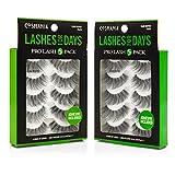 Cosmania Lashes for Days False Eyelashes, 10 Pairs   Adhesive Included (Glam Wispies)