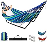 Hammock with Stand,Hammock,Hammocks Outdoor with Stand,Garden Hammock with Stand,Camping Garden Chairs Indoor Single Hammock with Metal Frame with Portable Carrying Bag and Accessories