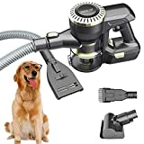 DAMAIJOY Upgrade US Patent Vacuum Cleaner with Dog Cat Grooming Shedding Brush Comb, Unique Pet Hair Fur Remover Tools Best 4 in 1 Multipurpose Cordless Handheld for Couch Furniture Carpet Car Removal