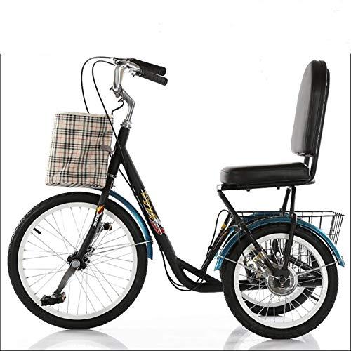 LLF Cargo Cruiser, Erwachsene Fahrrad-Radfahren 3-Rad-Bike, DREI Rad-Bike Cruiser Fahrrad Pedal Dreirad Mit Einkaufskorb, Fahrrädern Trikes Frauen Männer Senioren for Freizeit, Shopping, Übung