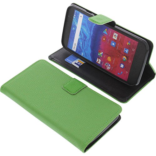 foto-kontor Tasche für Archos Core 55 Book Style grün Schutz Hülle Buch