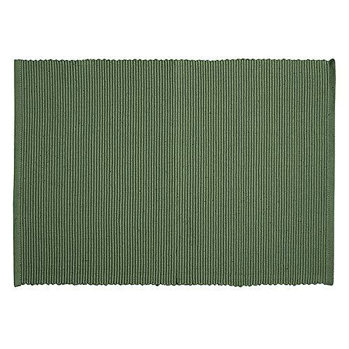 LINUM Uni Tischset, Baumwolle, Olivgrün, 35 x 46 cm