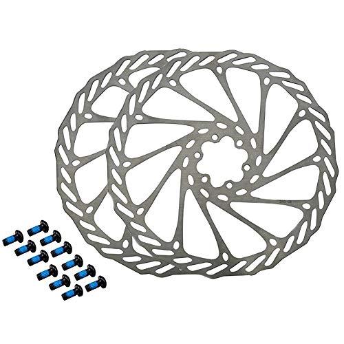 HemeraPhit Lot de 2 disques de frein pour vélo de montagne G3 en acier inoxydable avec 12 boulons gratuits (203 mm)