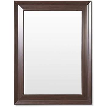 Frame N Art Decorative Wooden Finish Water Proof Vanity Wall Mirror Glass for Living Room, Bathroom, Bedroom (CGC-26) (18 x 24)