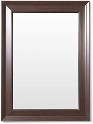 Frame N Art Decorative Wooden Finish Water Proof Vanity Wall Mirror Glass for Living Room, Bathroom, Bedroom (CGC-26) (18 x 24)