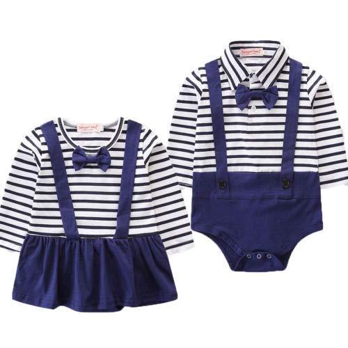 Geagodelia - Pelele de marinero para beb y beb de manga larga, disfraz de nio de algodn de 3 a 24 meses nia 18-24 meses