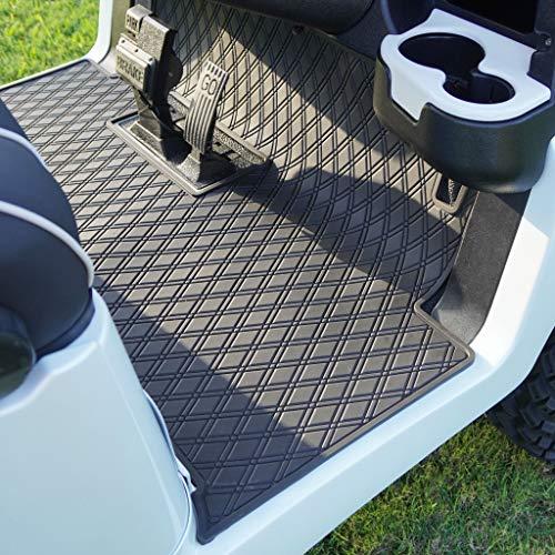 Xtreme Mats Club Car Full Coverage Golf Cart Floor Liner Mat W/Color Options- Fits 2 and 2+2 Club Car Models Precedent (2004+)/Onward & Tempo (2017-2021), Villager - Black