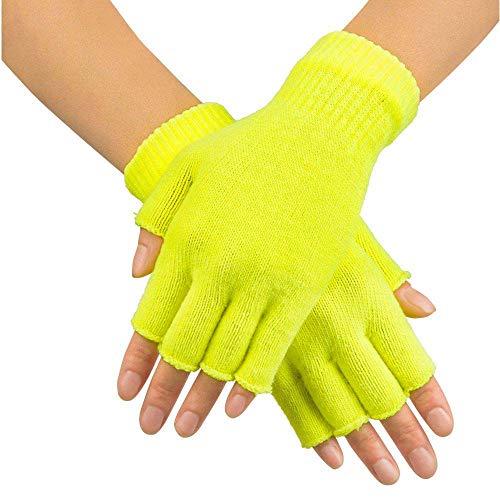 Boland 01903 Gants Fingerless, jaune, taille unique