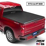 Tonno Pro Hard Fold, Hard Folding Truck Bed Tonneau Cover | HF-158 | Fits 2014-18, 19 Ltd./Lgcy GMC Sierra & Chevrolet Silverado 1500 6'6' Bed