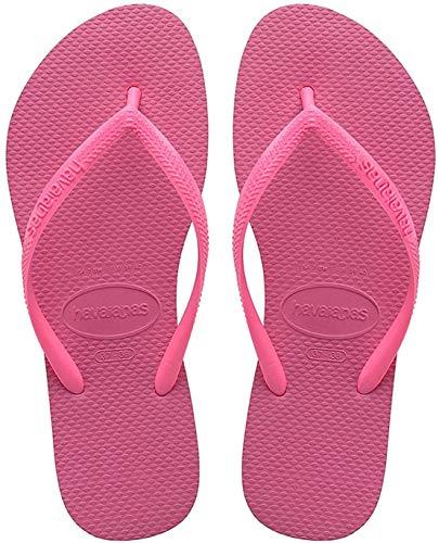 Havaianas Slim, Tongs Femme - Rosa (Shocking Pink 0703), 39/40