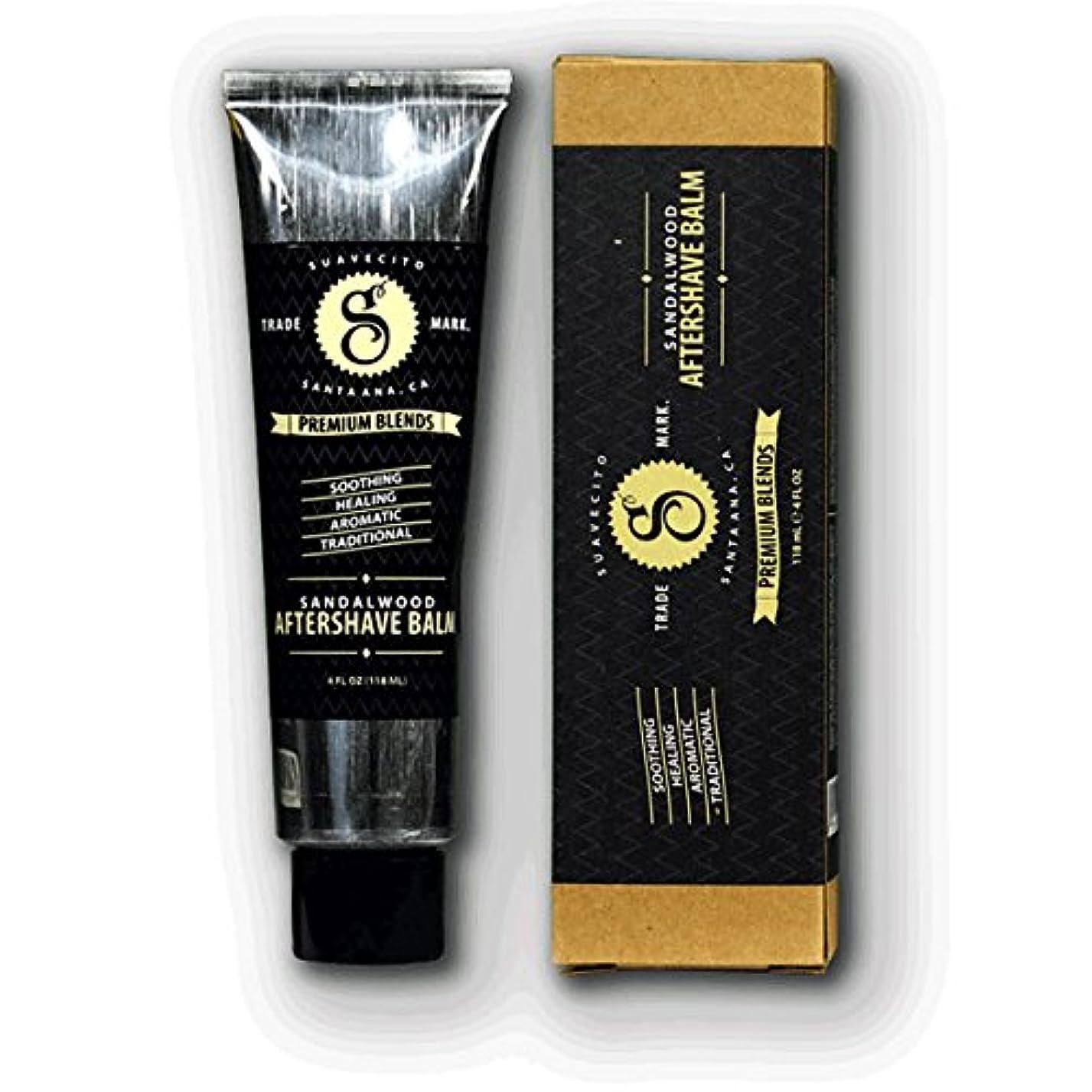 メンバー耕す湿気の多いSUAVECITO スアベシート 【Premium Blends Sandalwood Aftershave Balm 4oz】 シェービングクリーム 4OZ(約110G)