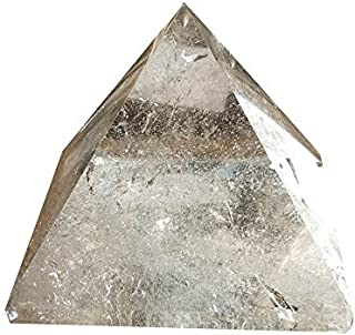 HongJinTian Natural Crystals Clear Quartz Crystal Pyramid APPROX. W2.20Inches for Reiki Healing