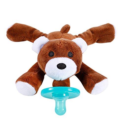 Baby Schnuller & Stofftier Schnuller Halter YKS Weicher Plüsch Tierspielzeug Baby Geschenk Meistverkauft - Baby Stofftier mit Schnuller (Bär)