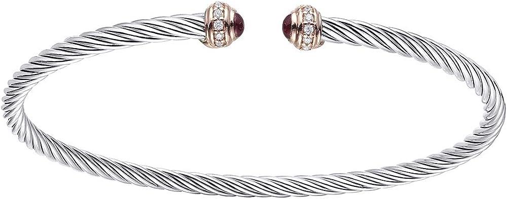 Duran exquse bracciale collezione tubogas realizzato in argento 925 con dettagli in oro rosa e zirconi