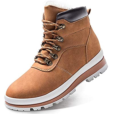 Iarus Women's Hiking Boots Waterproof Suede Leather Hiking Shoes for Women Keep Warm Comfortable Hiking Boot?Camel8?