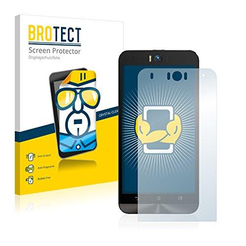 BROTECT Schutzfolie kompatibel mit Asus ZenFone Selfie ZD551KL (2 Stück) klare Bildschirmschutz-Folie