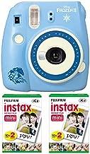 Fujifilm instax Mini 9 Instant Camera (Disney Frozen 2) with Instax Mini Frozen 2 Instant Film, 10 Exposures Bundle (20 Pics)