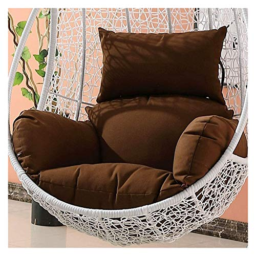 BDBT Swing Chair Cushion Garden Patio Rattan Swing Chair Wicker Hanging Egg Chair Hammock Cushion and Cover Indoor or Outdoor (Color : Brown)
