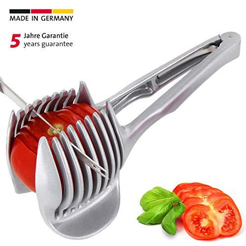 Westmark Tomatenzange/Schneidhilfe, Für gleichmäßig geschnittene Scheiben, Länge: 18,5 cm, Aluminium, Tomatex, Silber, 51402260