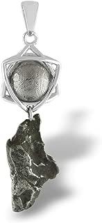 Starborn Sterling Silver Muonionalusta and Campo de Cielo Meteorite Orbit Pendant