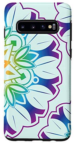 Galaxy S10 Zen Yoga Meditation Circular Floral Pattern Mandala Phone Case
