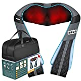 Shiatsu Back Neck Massager with Heat- PerkyPack Deep Tissue Kneading Massager for Neck Back Shoulder Foot Leg- Gift for Women Men Mom Dad- Electric Full Body Massager for Home Office Car Use