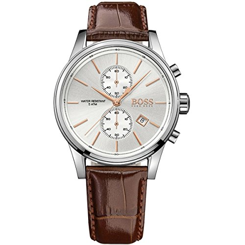 Hugo Boss Herren Chronograph Armbanduhr mit Lederarmband 1513280