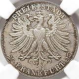1861年 MS65 グルデン 銀貨 ドイツ フランクフルト NGC 鑑定 完全 未使用 FDC GULDEN 双頭の鷲