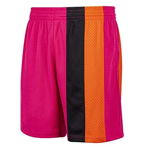 WWWJ Herren-Shorts, schwarz, Hartholz, klassisches Primär-Logo, Swingman-Shorts, Fitness-Shorts, Herren-Lauf-Shorts Gr. S, rose