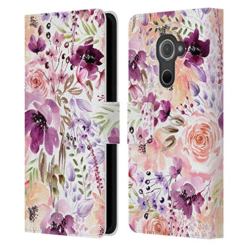 Head Hülle Designs Offizielle Anis Illustration Blumenchaos Pumphose Leder Brieftaschen Handyhülle Hülle Huelle kompatibel mit BlackBerry DTEK60