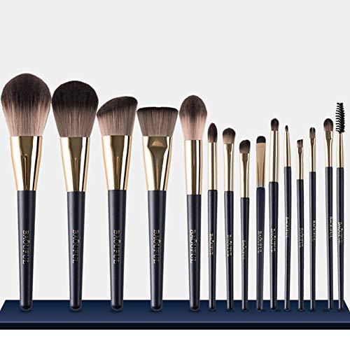 FSGD Brosses Maquillage Set, 15pcs de Maquillage Professionnel Brosse pour l'application Uniforme de Fard à Joues, liquides, Contouring & Powders
