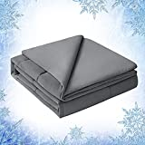 Elegear Revolutionary Cooling Comforter Queen Absorbs Body Heat to Keep Cool, Lightweight Summer Comforter Japanese Arc-Chill Cold Tech Fabric Cooling Blanket Hypo-Allergenic Cooling Quilt - Gray