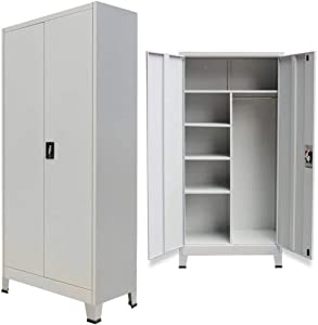 "Unfade Memory Storage Locker Stainless Steel Cabinet with 2 Doors 35.4""x15.7""x 70.9"""