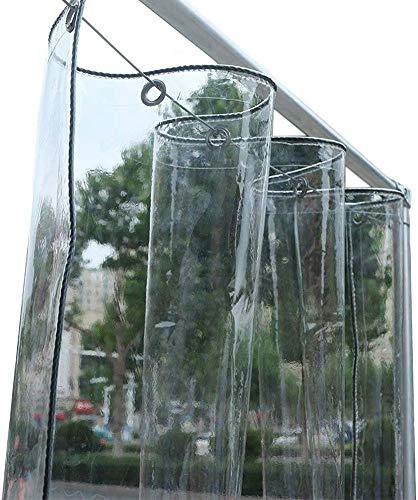 MWyanlan Lona Lona de PVC Gruesa Transparente con Ojales Película de plástico para Aislamiento de Ventanas Balcón Lona Protectora Muebles de Exterior-0.3mm-2×3m