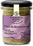 Delicious & Sons Paté de Berenjenas - Ecológico - Sin Transgénicos - Sin Gluten - Sin Azúcares Añadidos - Vegano - Apto para dietas Paleo y Keto 180g