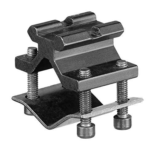 ACEXIER Adaptador de Montaje de Anillo de Barril Picatinny/Weaver de 20 mm con riel Ajustable táctico con Montaje en riel Superior para Caza Airsoft Rifle Scope Linterna