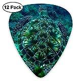 Pack de 12 púas de guitarra púas con soporte de púas, set de selección de guitarra de celuloide de tortuga marina para guitarra eléctrica acústica ukelele de mandolina bajo