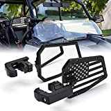 Xprite Side View Mirror, UTV Side Mirrors with Bracket and Glass Mirror fits 1.5-2 Inch Roll Bar Cage for Polaris RZR XP 1000, ATV, UTV, Side by Side, CAN-AM Maverick X3, Teryx, Yamaha (U.S. Flag)