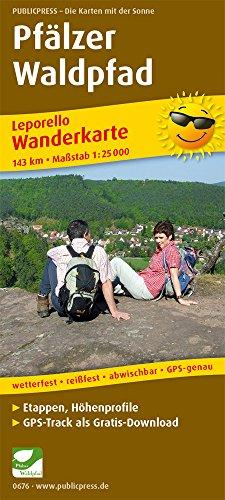 Pfälzer Waldpfad: Leporello Wanderkarte mit Ausflugszielen, Einkehr- & Freizeittipps, wetterfest, reißfest, abwischbar, GPS-genau. 1:25000 (Leporello Wanderkarte / LEP-WK)