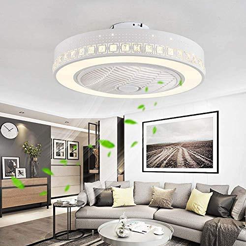Ventilador de Techo Led para Interiores con Luces,72 W,Luz de Techo Regulable Moderna,Lámpara de Ventilador Led Integrada con Control Remoto para Habitación de Niños/Sala de Estar/Dormitorio,3