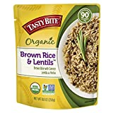 Tasty Bite Brown Rice Lentil 8.8 Ounce (Pack of 6), Whole Grain Brown Rice with Savory Lentils and...