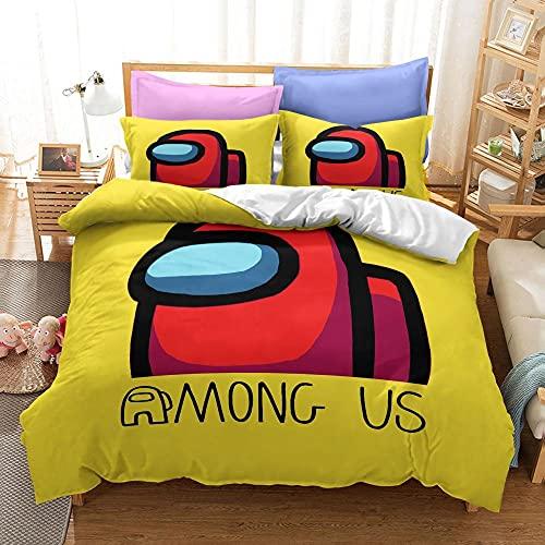 Bedclothes-Blanket Copripiumino Singolo Piume,Tre Set di Kit da Letto del Fumetto Stampa Digitale 3D-8_135x200cm.